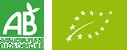 Logotipos: AB Agriculture Biologique y Orgánica