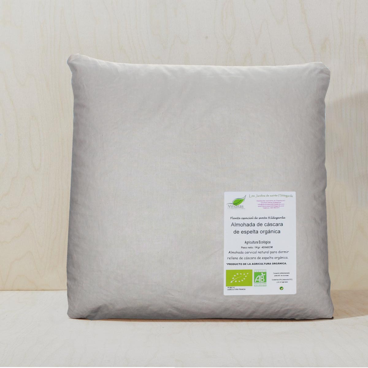 10 kg de espelta org/ánica para almohadas.